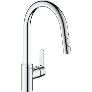 Baterie bucatarie GROHE Get 31484001, dus extractibil, metal, crom ARM31484001