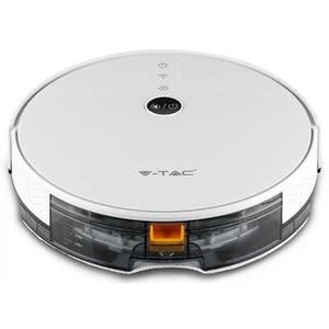 Aspirator Robot V-tac 8649, 0.6l, 14.4v, Autonomie Max 150 Min, Wi-fi, Smart Light App, Alb-negru