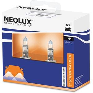 Set 2 becuri Halogen NEOLUX N448EL1-2SCB Extra Light 130%, H1, 55W, 12V AUTN448EL12SCB