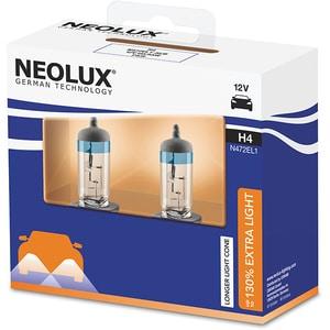Set 2 becuri Halogen NEOLUX N472EL1-2SCB Extra Light 130%, H4, 60/55W, 12V AUTN472EL12SCB
