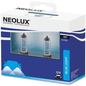 Set 2 becuri Halogen NEOLUX N499B-SCB Blue Light, H7, 55W, 12V AUTN499BSCB