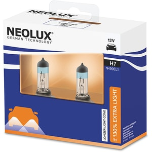 Set 2 becuri Halogen NEOLUX N499EL1-2SCB Extra Light 130%, H7, 55W, 12V AUTN499EL12SCB