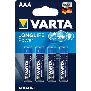 Baterii alcaline AAA VARTA Longlife Power, 4 bucati BATHIGHENERR3B4