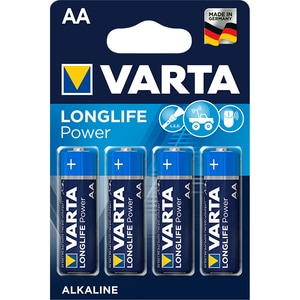 Baterii alcaline AA VARTA Longlife Power, 4 bucati BATHIGHENERR6B4