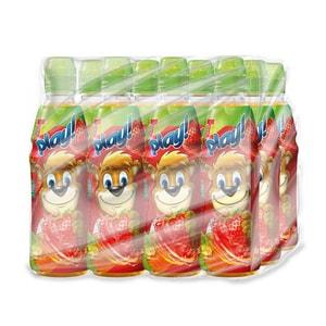 Bautura racoritoare pentru copii TEDI Play Morcov-Capsuni-Lime bax 0.40L x 12 sticle BARTYWTEDPL04L3