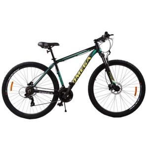 "Bicicleta Mountain Bike OMEGA Duke, 27.5"", negru-verde-galben BCLDUKE275NGV"