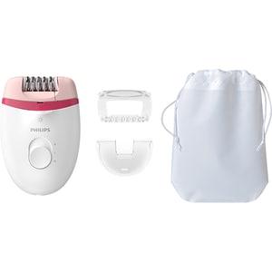 Epilator PHILIPS Satinelle Essential BRE255/00, 2 viteze, 3 accesorii, retea, alb-roz