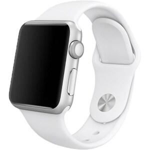 Bratara pentru APPLE Watch Seria 1, 42 mm, silicon, white BRTMJ4M2ZMA