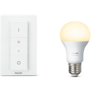 Bec LED PHILIPS Hue 9W (60W), E27, Lumina alba calda + Intrerupator variabil BSWHUE9WINTR