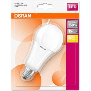 Bec LED OSRAM 4052899959118, E27, 19W, 2700K, lumina calda BEC150W959118