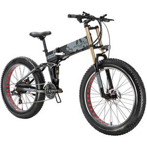 Bicicleta electrica pliabila FAT BIKE MYRIA MY7018, roti 26 inch, motor 350W, acumulator 36V 7,8 Ah, 21 de viteze BCLBICMY7018GR