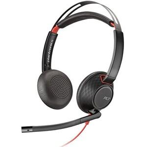 Casca Call Center PLANTRONICS Blackwire 5220, C5220, USB-A, 3.5mm, Binaural, negru CASPLC00227