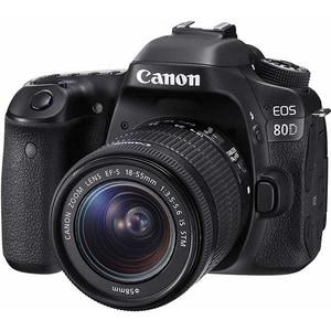 Aparat foto DSLR CANON EOS 80D, 24.2 MP, Wi-Fi, negru + Obiectiv EF-S 18-135mm IS Nano USM SLREOS80D18135
