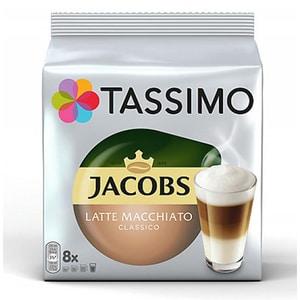 Capsule cafea JACOBS Tassimo Latte Macchiato, 8 capsule cafea + 8 capsule lapte, 295g CAPJACOBSLATE