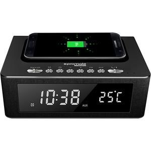 Ceas cu radio PROMATE timeBase-2, Statie incarcare, Bluetooth, 10W, negru CESTIMEBASE2B
