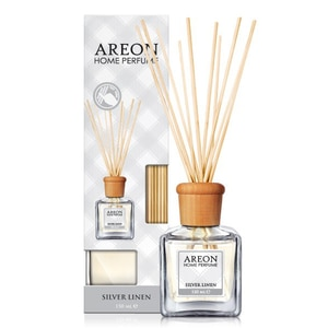 Odorizant cu betisoare AREON Home Perfume Silver Linen, 150ml CONAREONSL150