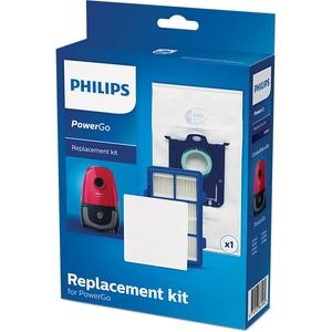 Kit PHILIPS PowerGo FC8001/01: 1 sac + 1 filtru motor + 1 filtru alergeni CONFC800101