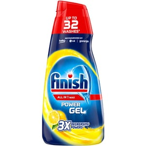 Detergent vase gel pentru masina de spalat vase FINISH All in One Max Lemon, 650 ml CONFINGELEM650