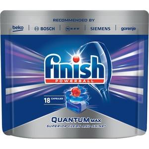 Detergent vase pentru masina de spalat vase FINISH Quantum, 18 tablete CONFINQUANTUM18