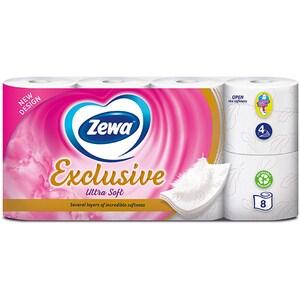 Hartie igienica ZEWA Exclusive Ultra Soft, 4 straturi, 8 role CONHIZWEUS4S8R