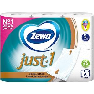 Hartie igienica ZEWA Just-1, 5 straturi, 6 role CONHIZWJUST5S6R