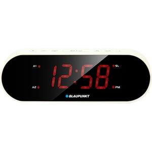 Radio cu ceas BLAUPUNKT CR6WH, FM, alb CESCR6WH