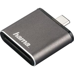 Cititor de carduri HAMA 124186, USB 3.1 Tip C, UHS II OTG, gri CRD124186