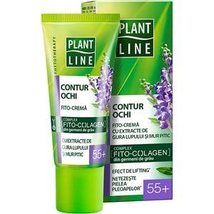 Crema contur pentru ochi cu extract de mur pitic PLANT LINE, 55+, 20ml CRM67778716