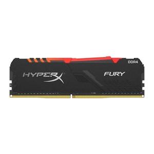Memorie desktop KINGSTON HyperX Fury RGB 8GB DDR4, 3000MHz, CL15, HX430C15FB3A/8 CSA430C15FB3A8