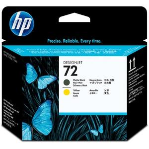 Cap imprimare HP 72 (C9384A), negru mat, galben CSMC9384A