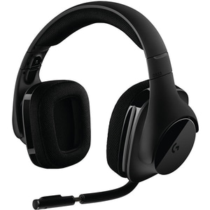 Casti Gaming Wireless LOGITECH G533, 7.1 surround, dongle 2.4Ghz, negru CAS981000634