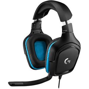 Casti Gaming LOGITECH G432, 7.1 surround, multiplatforma, 3.5mm, negru-albastru CAS981000770