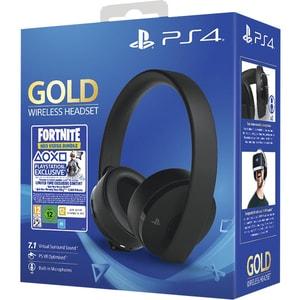 Casti Gaming Wireless SONY PlayStation (PS4) Gold, 7.1 surround, multiplatforma, USB, 3.5mm, negru Fortnite Neo Versa Bundle CASPS4WSHGOLDF