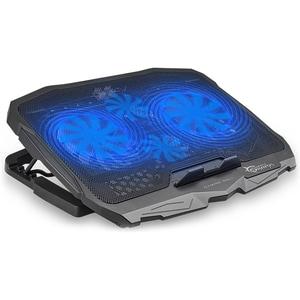 Cooler pad gaming WHITE SHARK Ice Warrior GCP-25, 17.3 inch, iluminare cu LED albastru, negru GAMNBA00124