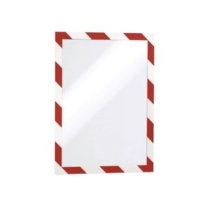 Display magnetic DURABLE Security, A4, 5 bucati, alb-rosu PBPDB945132
