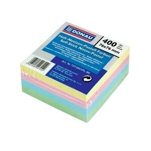 Notite adezive DONAU, 400 file, 76 x 76mm, diverse culori PBHDN100880