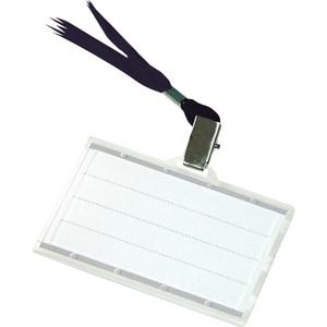 Ecuson orizontal DONAU, plastic, 85 x 50 mm, transparent PBPDN100961