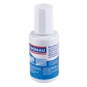 Corector fluid DONAU, 20 ml, pe baza de apa, aplicator burete PBIDN101221