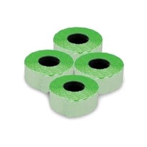Etichete autoadezive pentru marcatoare ROMPRIX, 26 x 12 mm, 1500 bucati/rola, verde fluorescent PBHDO261215