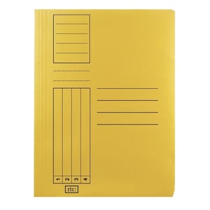 Dosar cu sina RTC Super, A4, carton, 10 bucati, galben PBODS105S