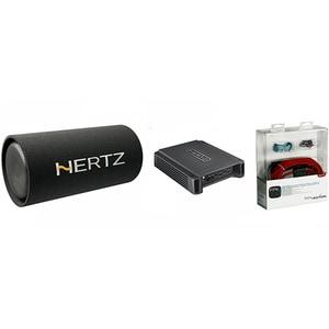 Pachet Subwoofer auto HERTZ DST 30.3B + Amplificator HCP2 + kit cabluri FPK 350 PSADST303BHCP2