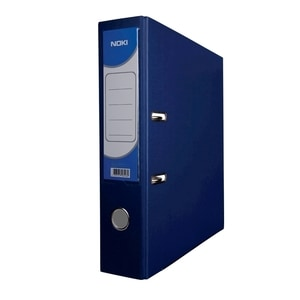 Biblioraft plastifiat/cartonat NOKI, A4, 50 mm, albastru inchis PBODY000122