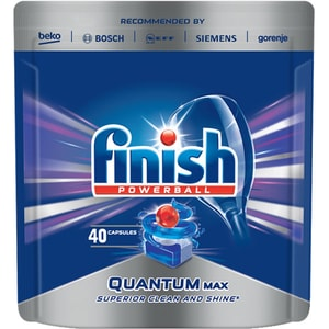 Detergent vase pentru masina de spalat vase FINISH Quantum, 40 tablete CONFINISHQAN40