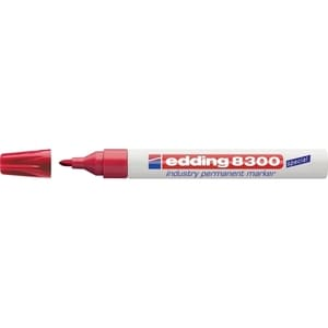 Marker permanent EDDING 8300 Industrial, corp metalic, 1.5-3 mm, rosu PBIED083002