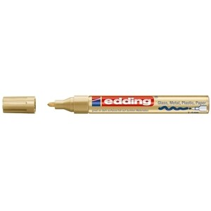 Marker permanent cu vopsea EDDING 750, corp metalic, 2-2-4 mm, auriu PBIED75053