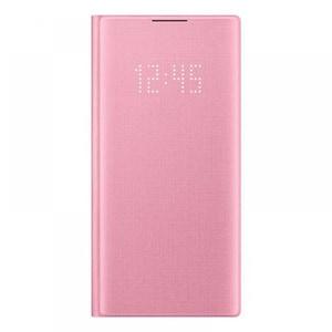 Husa Clear View pentru SAMSUNG Galaxy Note 10, EF-NN970PPEGWW, roz AHUNN970PPEGWW