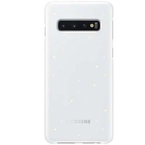 Carcasa LED (NFC powered back) pentru SAMSUNG Galaxy S10, EFKG973CWEGWW, alb AHSEFKG973CWEGWW