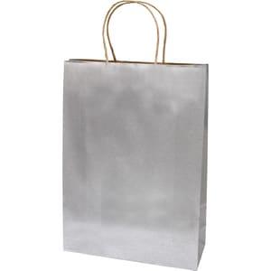 Punga cadou EUROCOM, 42 x 31 x 11 cm, carton, argintiu PBHEM071440
