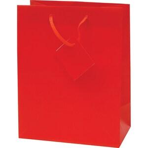 Punga cadou EUROCOM, 45.7 x 33 x 10.2 cm, hartie, rosu mat PBHEM071455