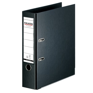 Biblioraft plastifiat FALKEN Chromcolor, A4, 80 mm, negru PBOFA026801